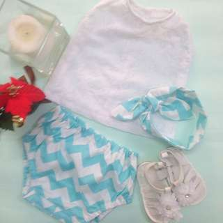 🆕MELISSA BABY BLOOMER SET for (3 months - 6 months)