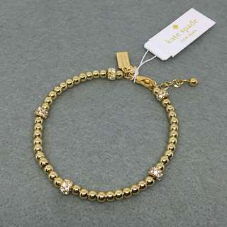 Kate Spade New York Sample Bracelet 金色閃石珠珠手鏈