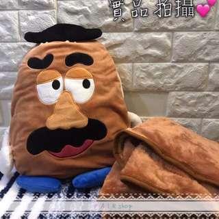 ⚠️禮物首選🎊Disney超可愛怪獸大學✅毛怪✅大眼仔✅彈頭先生抱枕毛毯娃娃