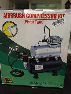 Airbrush compressor kit (piston type)