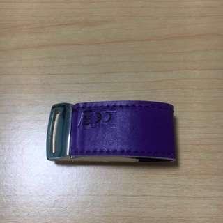 USB Drive 16GB (Metallic with Purple Leather Strap)