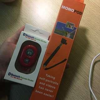 Monopod + Bluetooth shutter