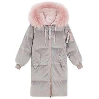 少女粉色棉外套/棉褸