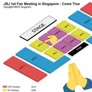 [WTS] JBJ Fanmeet VIP A ticket (price negotiable)