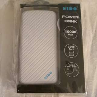 全新SIDO Power Bank 10000mAh 充電器/尿袋
