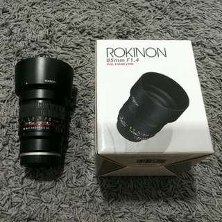 Rokinon 85mm F1.4 AS IF UMC
