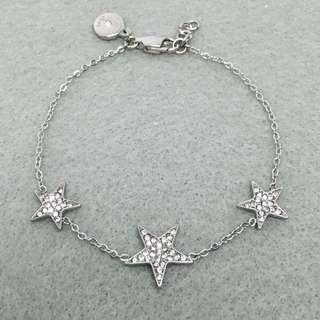Michael Kors Sample Bracelet 銀色閃石星星手鏈