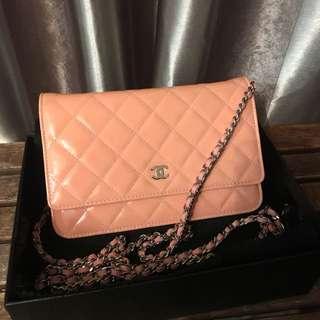 真品極新Chanel WOC wallet on chain