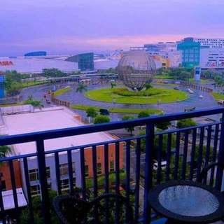 Sea residence 1br for rent long term with balcony facing manila bay