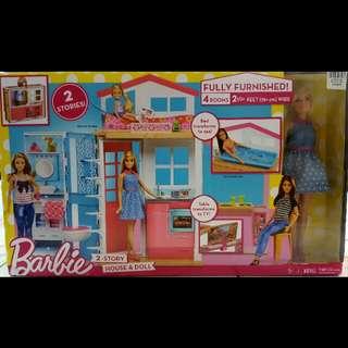 Barbie 2 1/2feet Doll house
