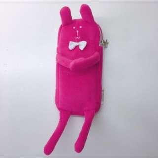 🚚 宇宙人 粉紅兔子 筆袋