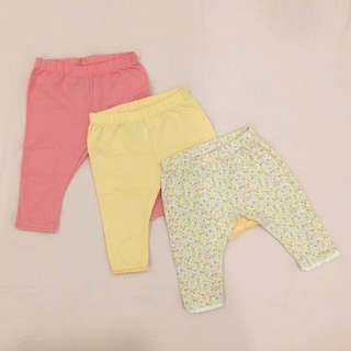 Mothercare baby girl long pants treasure(3 pcs set)