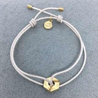 Marc Jacobs Sample Bracelet 米白色配金色手繩 (白手繩部份有污糟)