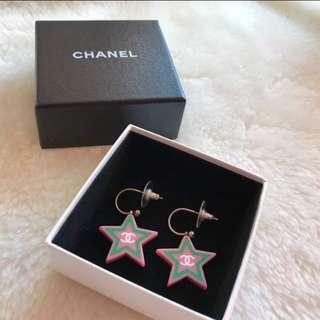 Chanel 2-way star earings