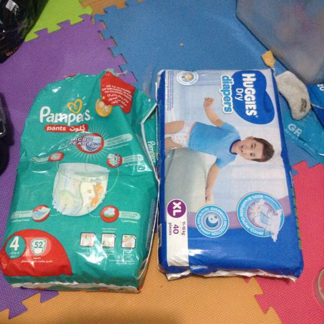 300 for Huggies and half Pampers