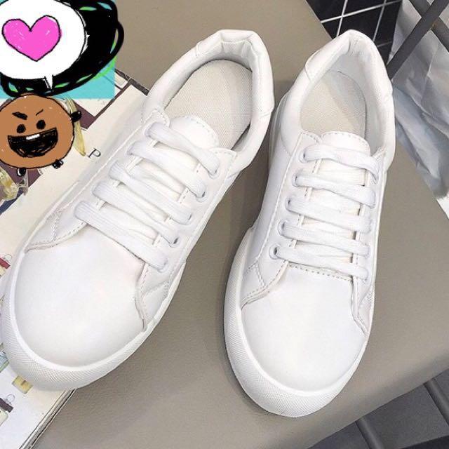 韓流休閒小白鞋36.5