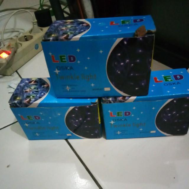 3 LED Lampu tamblr / lampu natal