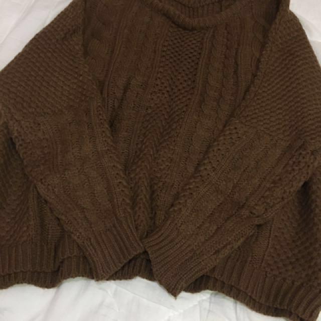 質感秋冬大地色針織毛衣