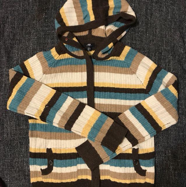 可愛針織毛外套