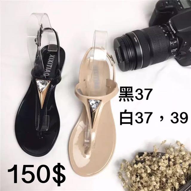 夾腳鑽石涼鞋