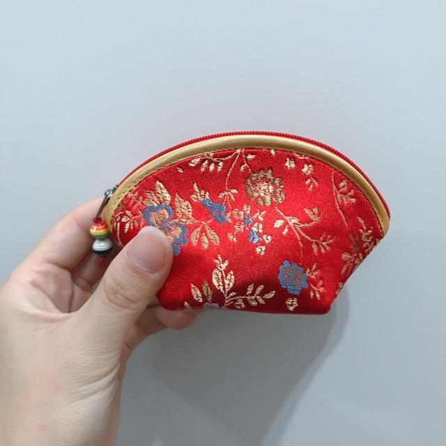 刺繡零錢包(紅