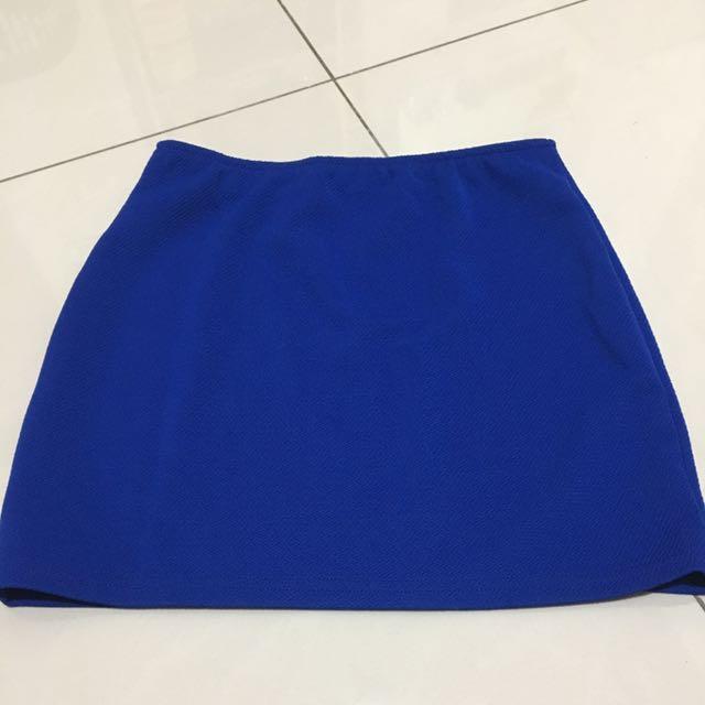 寶藍色 窄裙