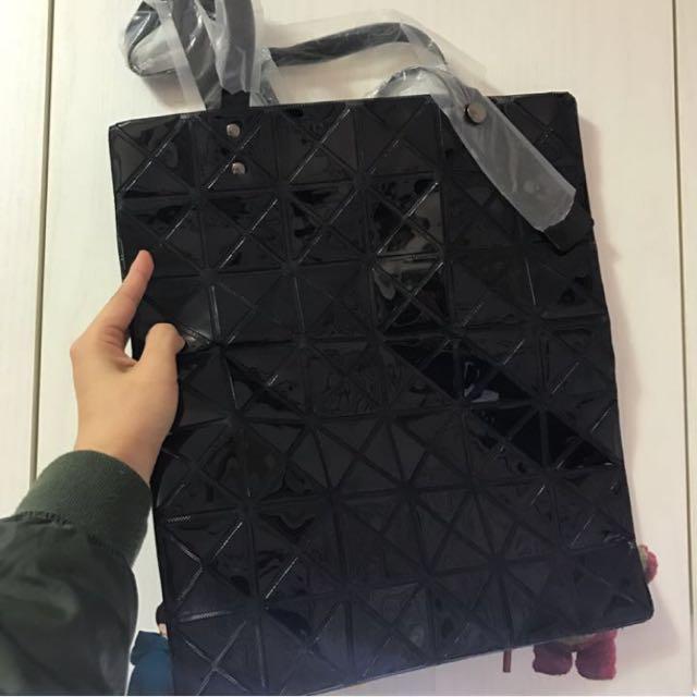 全新黑色菱格手提包 托特包 #交換禮物