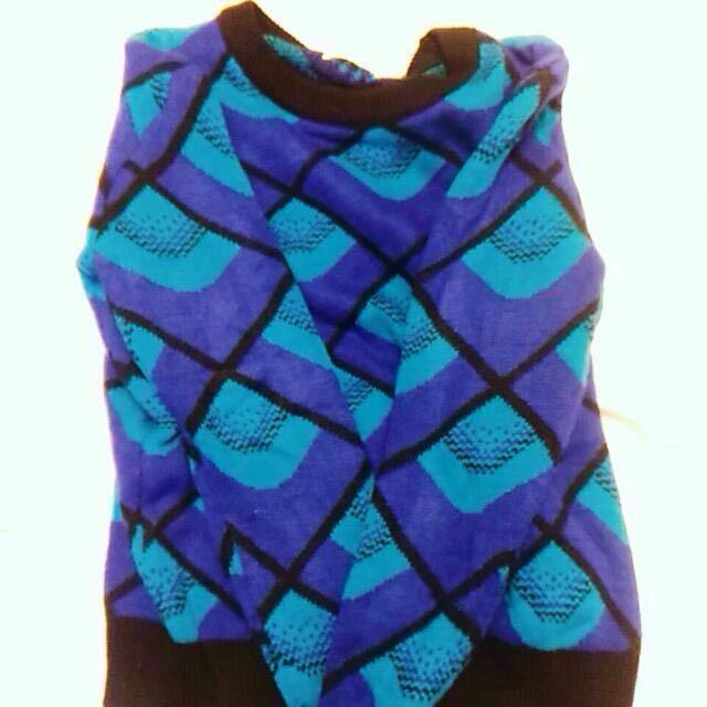含運 古着 軟綿綿毛衣 優雅的藍色