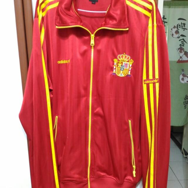 正品 Adidas 西班牙國家隊 紅x黃 運動外套 man XL