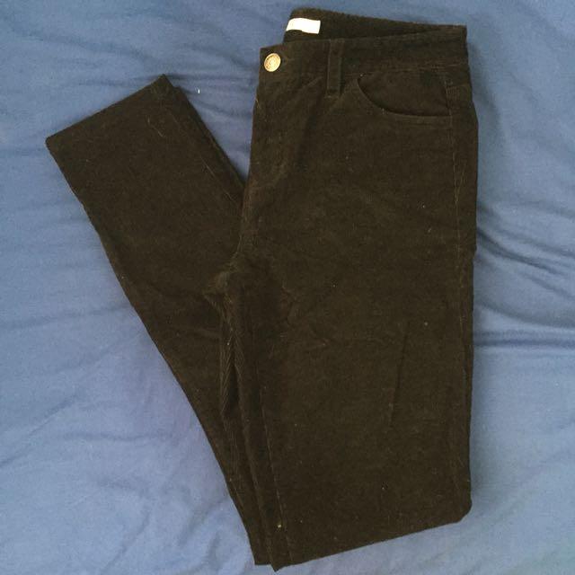 ⚡️ Black corduroy pants. ⚡️