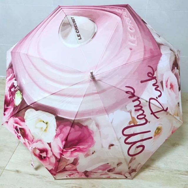 全新 Le Creuset Mauve Pink 限量版雨傘