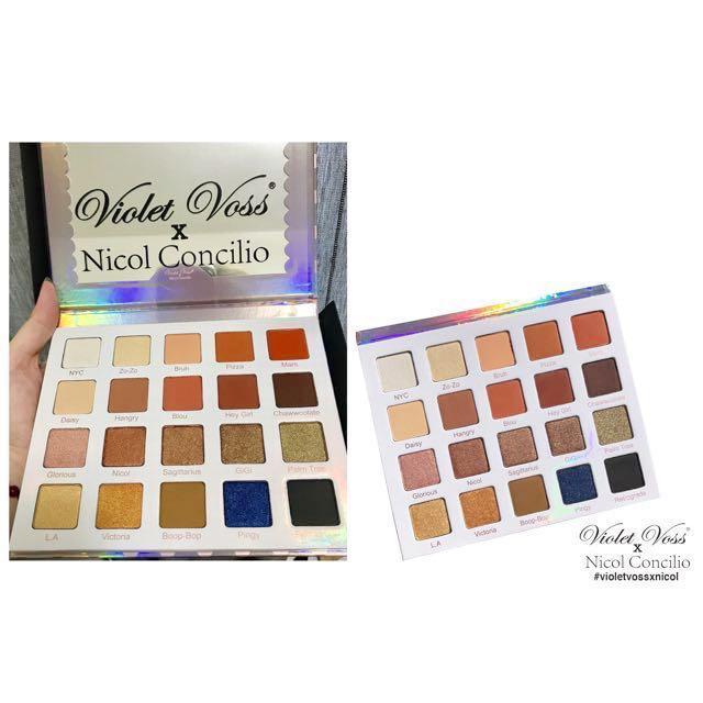 預購🙌🏻 Violet Voss Nicol Concilio 20色眼影盤 超顯色 暖色 眼影 歐美