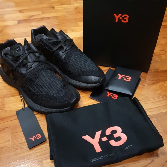 b985916987ad Price Reduced  Adidas Y-3 Pure Boost Triple Black Sneakers  US 9.5 ...