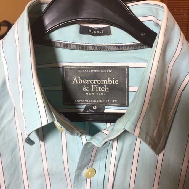 AnF Blue/ White stripped long sleeved shirt