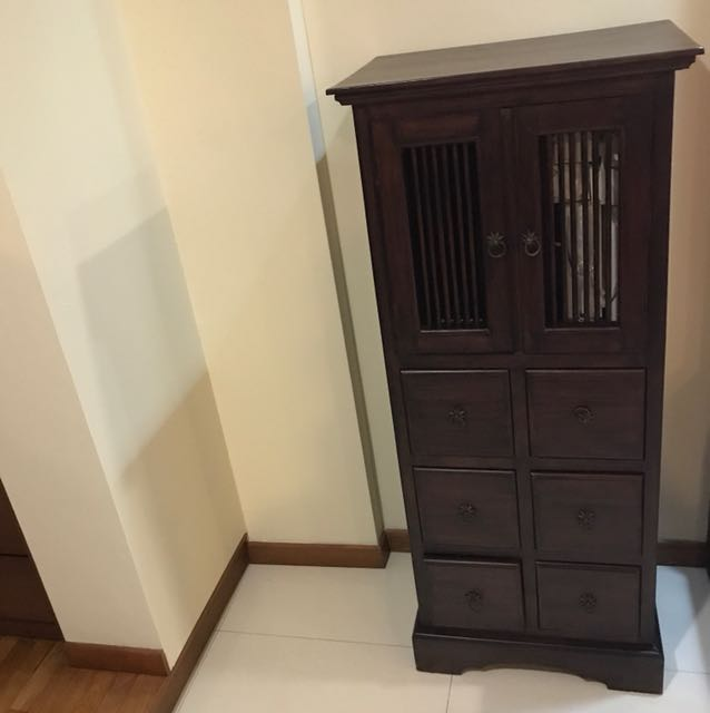 Antique Solid Wood Cabinet Abt 130x50x50cm, Antiques, Antique Furniture On  Carousell