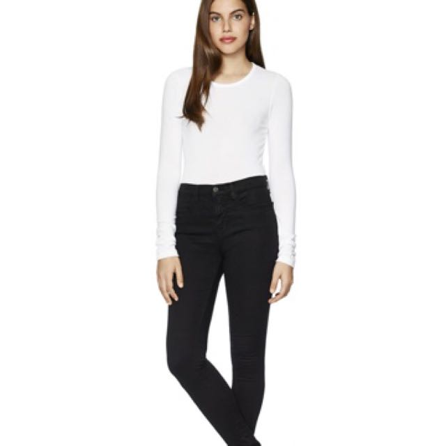 Aritzia JBrand Marias - High Waisted Black Denim
