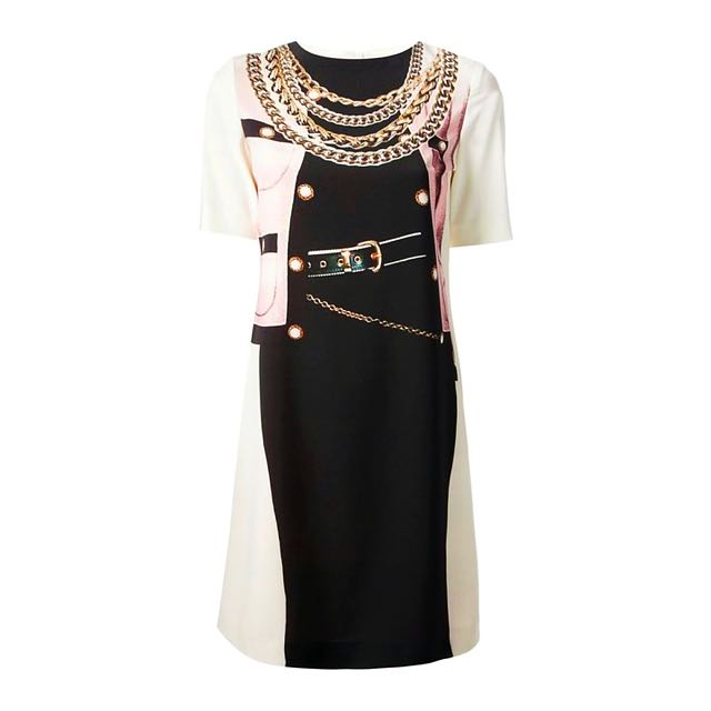 Authentic Moschino Cheap & Chic Chain & Buckle Dress