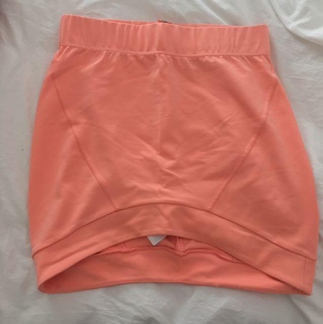 Bardot coral skirt