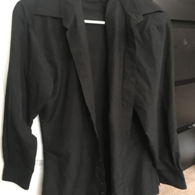 Black Button Up