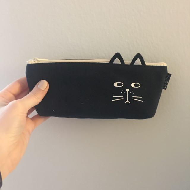 Black Cat Design Pouch