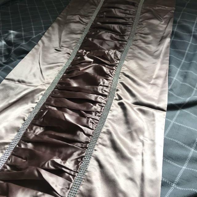 brand new silk and diamond bed runner