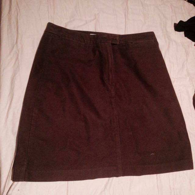 🌹brown skirt