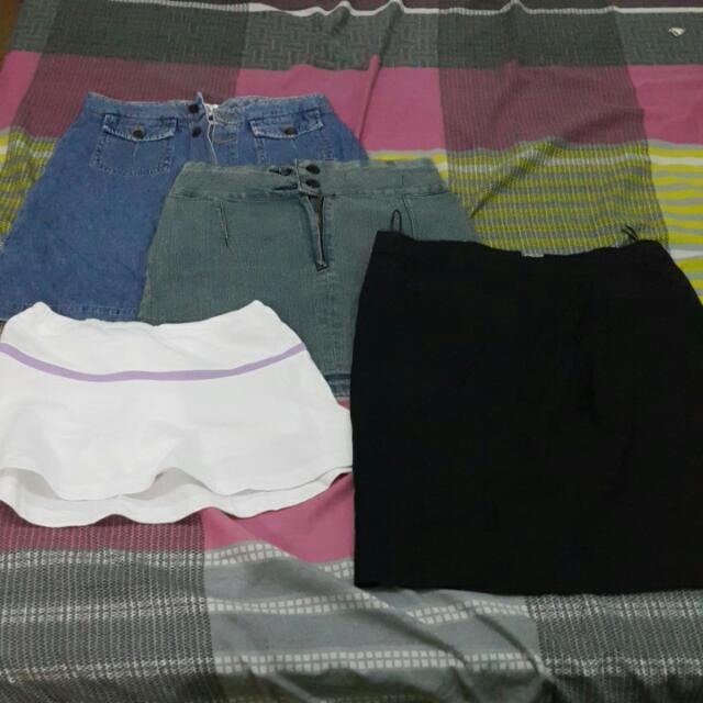 Bundle Of 4 Branded Skirts
