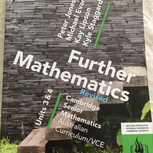 Cambridge Further Mathematics Units 3&4 Revised
