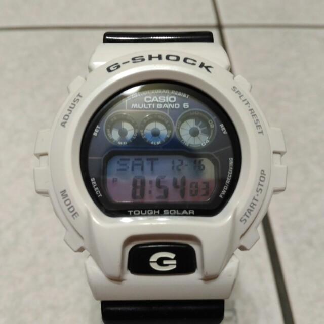 CASIO G-SHOCK GW-6900GW 太陽能世界6局電波錶 黑x白