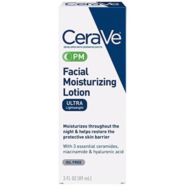 CeraVe facial moisturizing lotion PM , Face Moisturizer for Nighttime Use