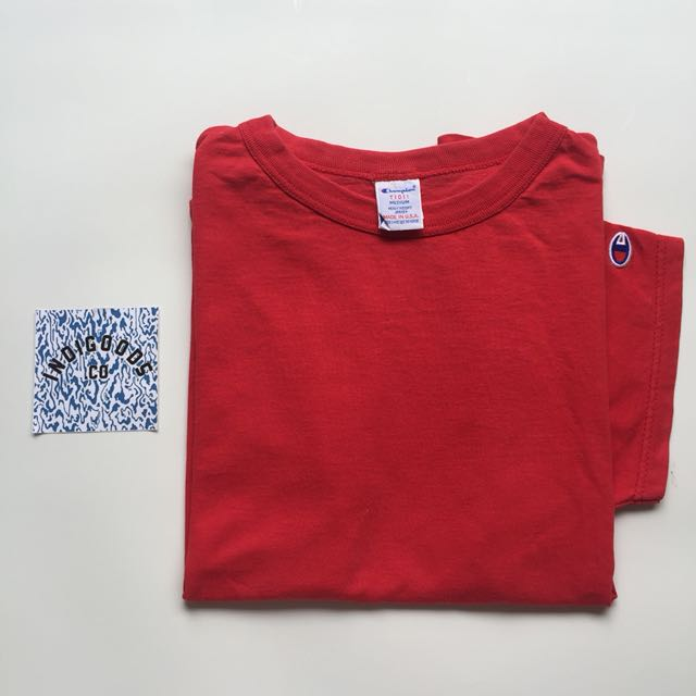 Champion Heavy Weight Tee Red Colorway