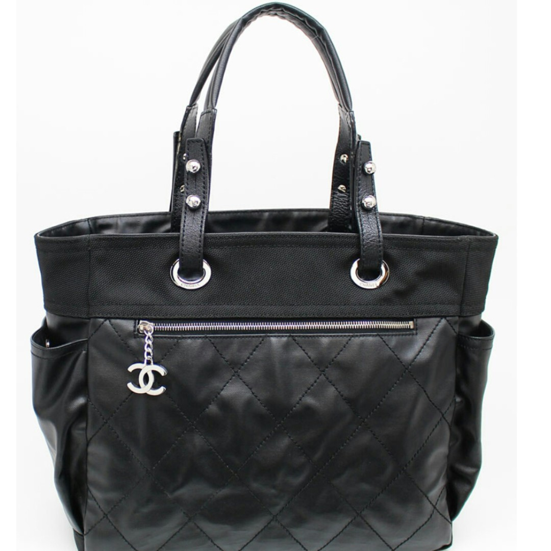 5ec46cd9989990 Chanel Black Paris Biarritz Large Tote Bag - Authentic, Luxury, Bags ...