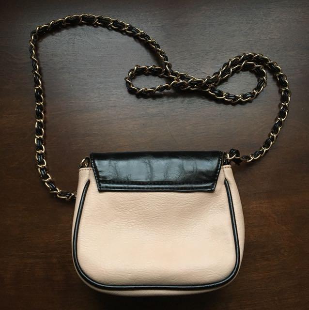 Chanel inspired faux leather shoulder bag