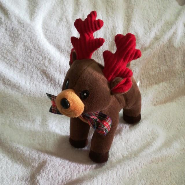 Christmas Musical Plush Standing Reindeer